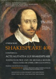 "Conferința: ""To read or not to read Shakespeare?"""