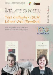 Mare Eveniment: Tess Gallagher și Liliana Ursu la Bistrița !!!